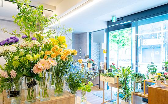 旬のお花や植物を 豊富に揃えた花屋です